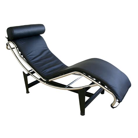 Black Leather Chaise Lounge Chair by Wholesale Interiors Le Corbusier Leather Chaise Lounge