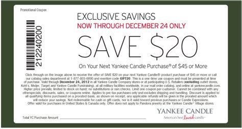 current printable yankee candle coupons yankee candle 20 off printable coupon expires december