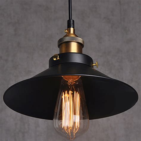 Industrial Pendant Light Fixtures Painted Iron Pendant Lighting Vintage L Holder Incandescent Bulbs Touch Switch Stainles
