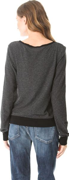 Baggy Meow wildfox meow baggy sweatshirt in black lyst