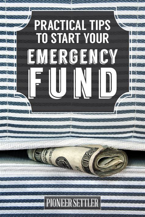 Practical Tips On How To Start by How To Start Your Emergency Fund Before It S Late