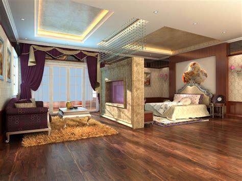bedroom fuking luxury bedroom cum living room with rug 3d model max