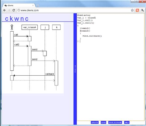uml creator ckwnc a textual uml tool for drawing sequence diagrams