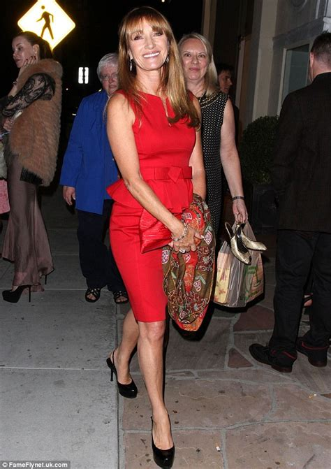 jane seymour high heels jane seymour looks radiant in red as she launches her new