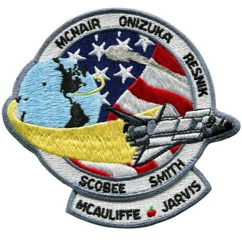 Kemeja Denim Pendek Space Shuttle Patch nasa space shuttle challenger mission patch