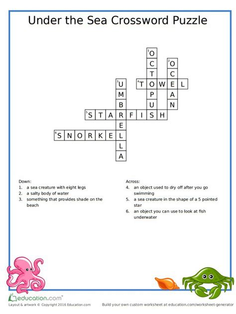 sea dogs crossword the sea crossword answers free crafts