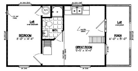 house design 15 30 15x30 adirondack floor plan 15ar801 custom barns and buildings the carriage shed