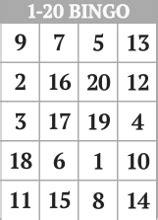 random number cards printable free printable 1 20 number bingo card generator