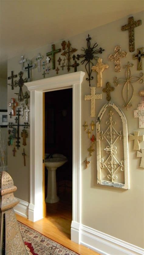 religious wall ideas wall of crosses http www lafuente com mexican decor