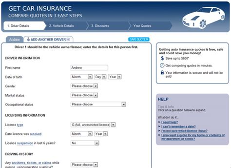 Insurance Quotes Drivers 5 by Auto Insurance Quote Comparison Tool