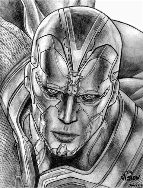 vision wallpaper black and white the vision avengers age of ultron by soulstryder210 on