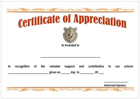 11 printable certificates of appreciation for teachers