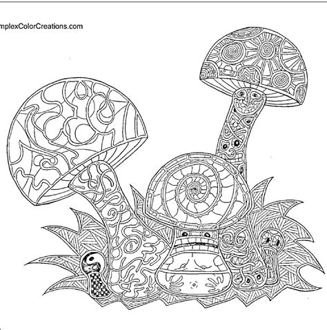 Trippy Coloring Pages Mushrooms by Trippy Coloring Page Coloring Page All