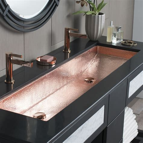 undermount trough sink trough 48 basin rectangular bathroom sink