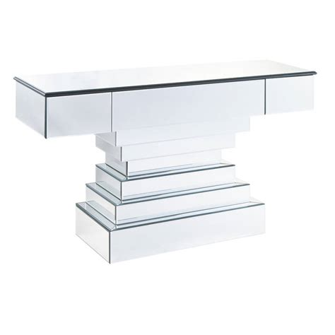 large mirrored console table by out there interiors