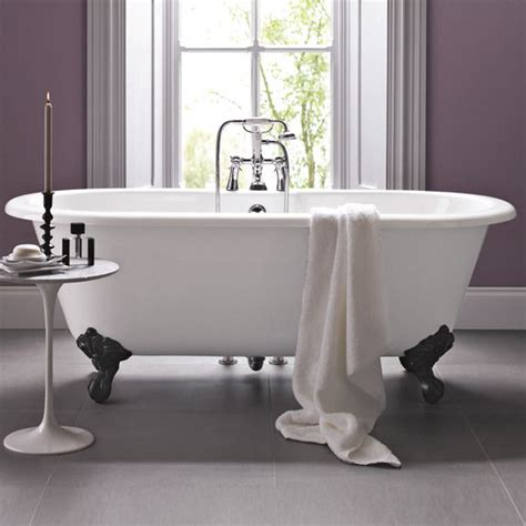 bathroom foot tapping cambridge bath with traditional cast iron feet bathstore