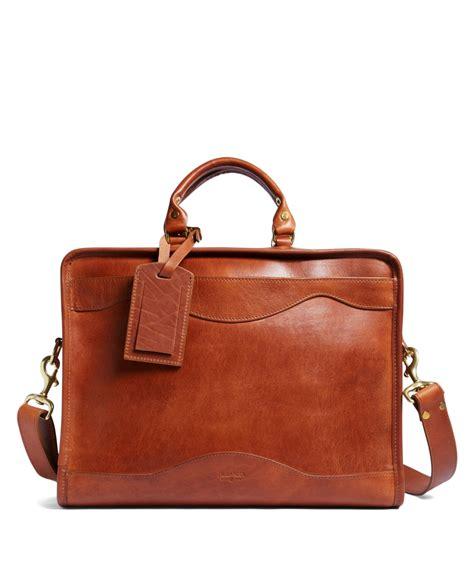 Slim Fiforlif brothers j w hulme leather slim portfolio briefcase in brown for lyst