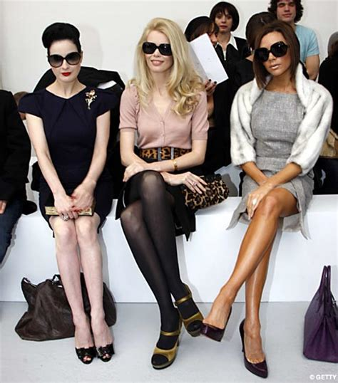 Posh Backs Out Of Tv Show by Posh Shows And Dita How To Behave At A Fashion