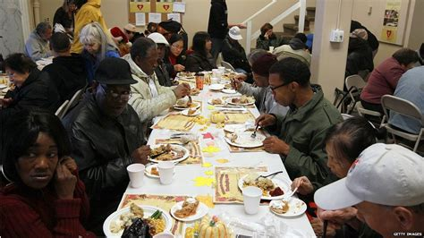 bbc news  pictures thanksgiving  america