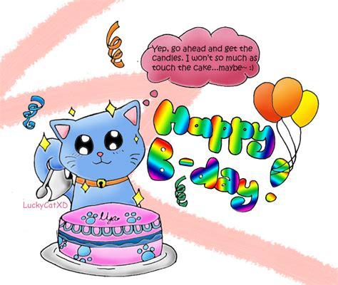 happy b day gift by luckycatxd on deviantart