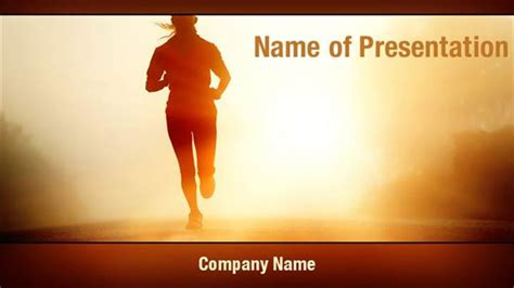 Running Powerpoint Template running athlete powerpoint templates running athlete