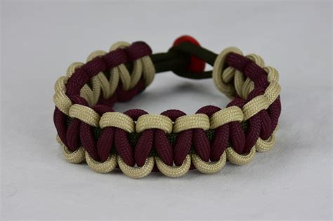 OD Green, Desert Sand, and Burgundy Paracord Bracelet That Will Help People Who Are In Need