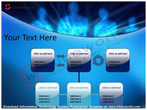 Information Technology System Powerpoint Template Information Technology Powerpoint Templates