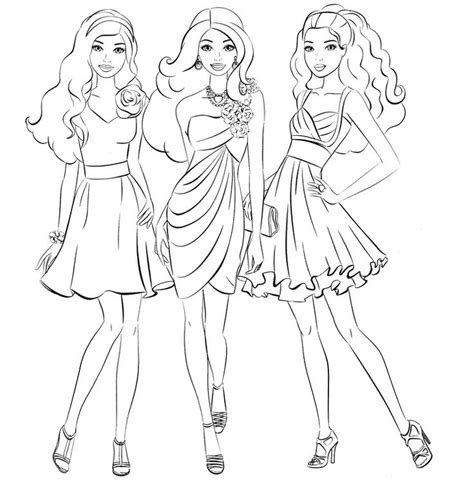 learn to fashion models coloring pages