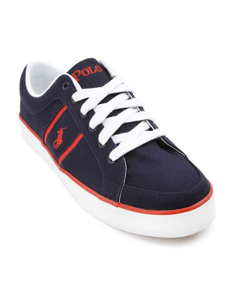 polo sneakers mens polo ralph bolingbrook low navy sneakers in blue