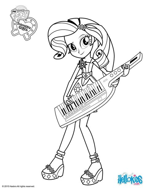 rarity coloring pages hellokids com