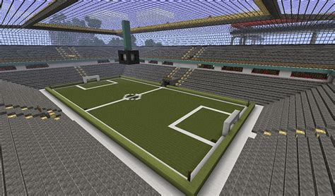 minecraft sports stadium minecraft soccer stadium with switchable lights and vip