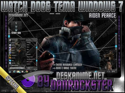 theme windows 7 watch dogs aiden pearce watch dogs windows 7 theme by danrockster on