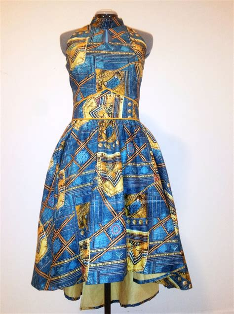 handmade print evening dress by teakafrique on etsy