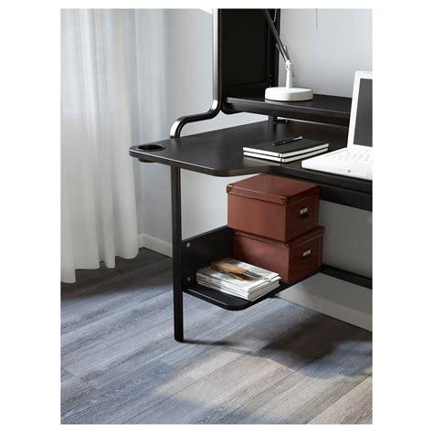 Fredde Workstation Black 185x146x74 Cm Ikea Workstation Computer Desk