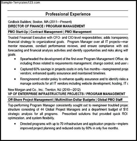 program manager pmo director resume pdf sle templates