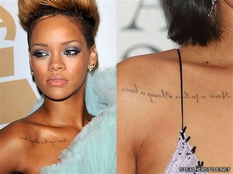 rihanna tattoo on right shoulder does rihanna have a tattoo quora