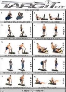 workout charts for the targitfit portable