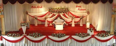 Wedding stage decoration hindu style, stage decoration