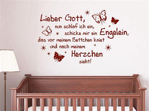 Wandtattoo Kinderzimmer Spruch by Wandtattoo Lieber Gott Schlaf Ich Ein Wandtattoo De