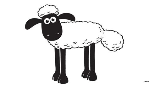 shaun the sheep coloring pages for kids free coloring