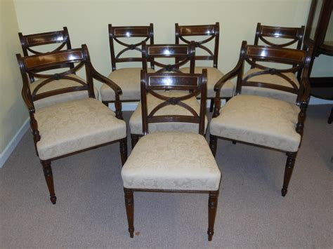 Regency Dining Chairs Mahogany Excellent Set Of 8 Regency Mahogany Dining Chairs 248456 Sellingantiques Co Uk