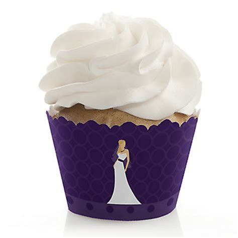 custom purple bridal shower cupcake wrappers - Cupcake Liners For Bridal Shower