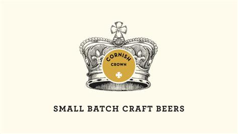 crown craft logo cornish crown small batch craft beers the dieline