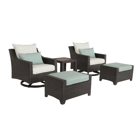 Patio Chair And Ottoman Martha Stewart Living Lake Adela Charcoal 2 Patio Lounge Chair And Ottoman Set With