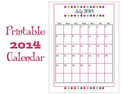 search results for 2014 print 12 month calendar
