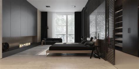 dark gray bedroom   Interior Design Ideas.