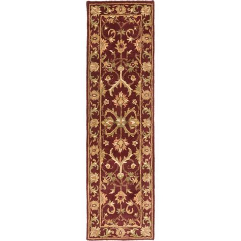 burgundy rug runner artistic weavers oxford burgundy 2 ft 3 in x 8 ft indoor rug runner awhs2010 238 the