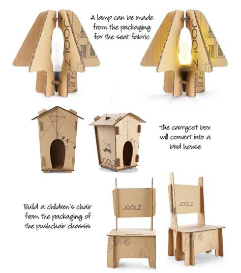 cardboard packaging comes with for upcycling