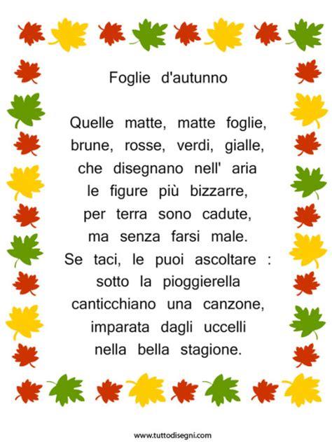 testo come foglie poesia autunno archives tutto disegni