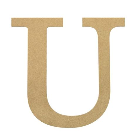 Letter U 10 quot decorative wood letter u ab2045 craftoutlet